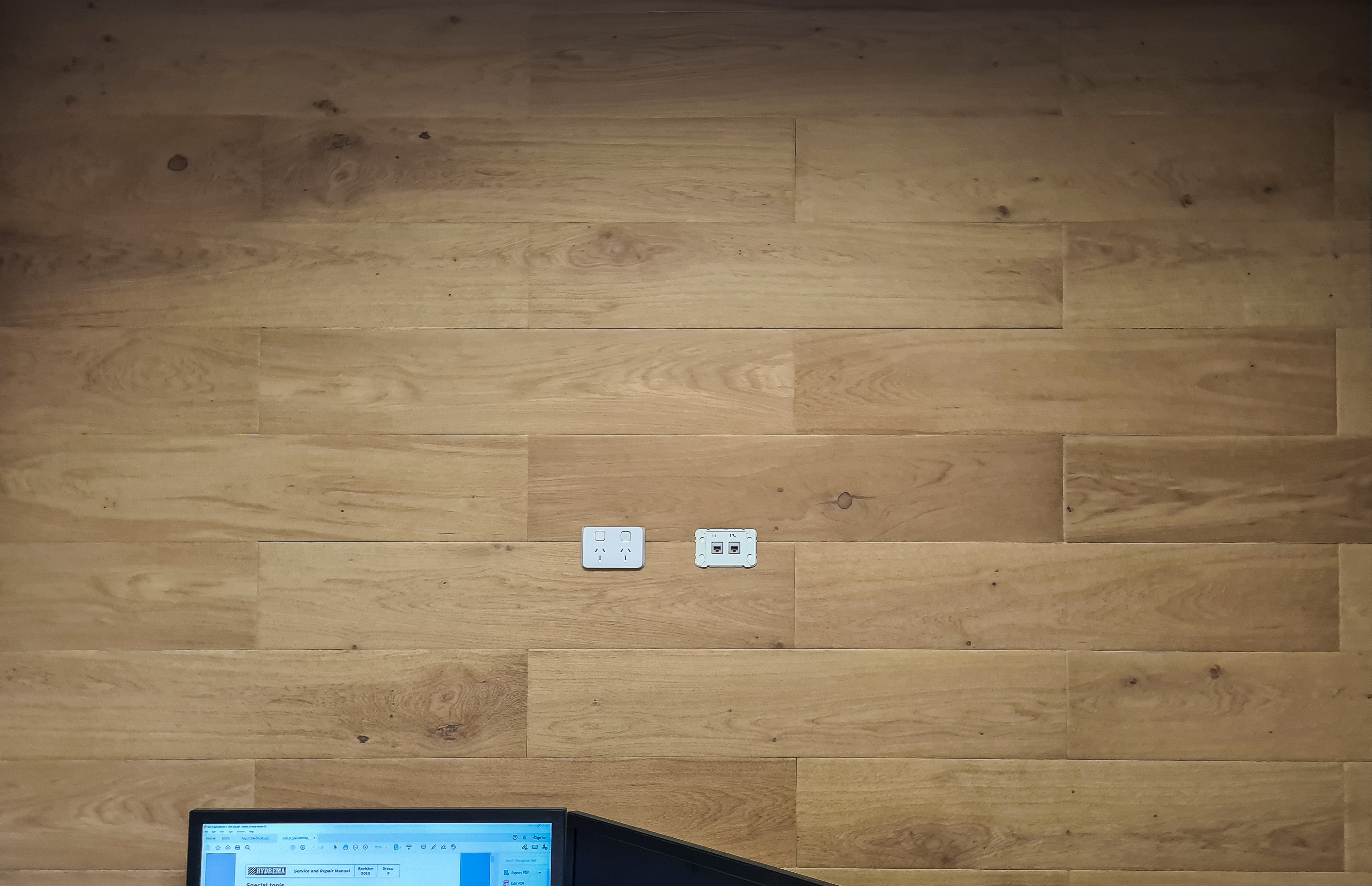 Office featuring the stylish Acoufelt WoodBeQuite selection.